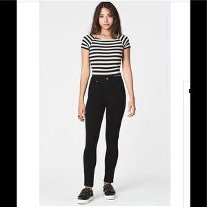 CARMAR Skinny High Rise Stretch Black Jeans